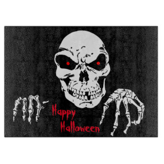 Halloween Decorative Glass Cutting Board/Skull Cutting Boards