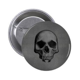 Halloween demonic skull 6 cm round badge