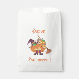 Halloween design white favor bag favour bags