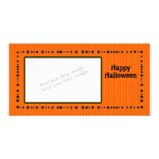 Halloween Design with Stars Photo Greeting Card