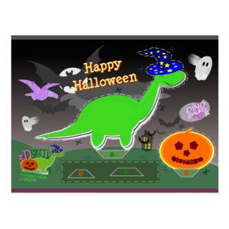 Halloween Dinosaur Statue Cut & Glue Craft Card Post Card