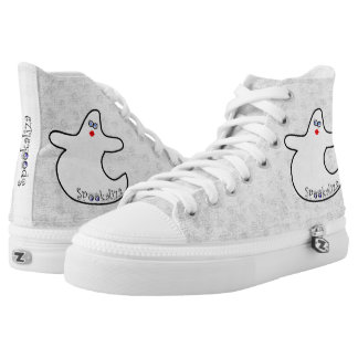 Halloween Diva Ghost Spookaliza - White Texture High Tops