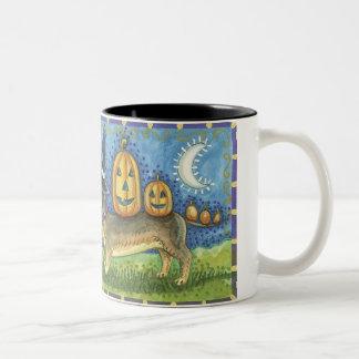 Halloween Dog Two-Tone Mug