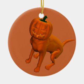 Halloween Dog Round Ceramic Decoration