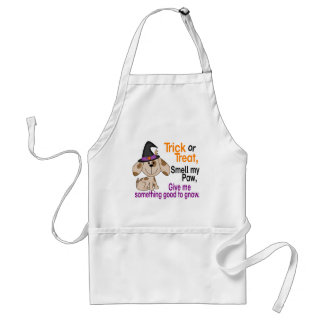 Halloween Dog Smell My Paw 1 Adult Apron