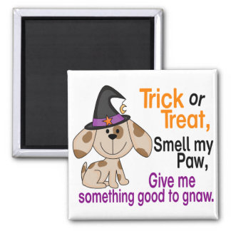Halloween Dog Smell My Paw 1 Square Magnet