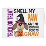 Halloween Dog Smell My Paw 2 Greeting Card