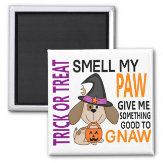 Halloween Dog Smell My Paw 2 Square Magnet