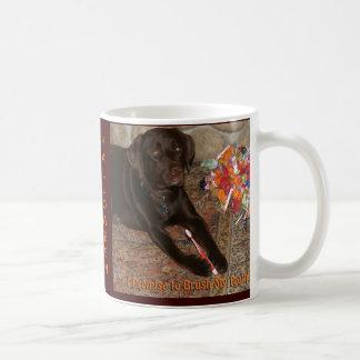 Halloween Dog with Sweet Tooth Basic White Mug