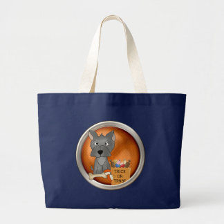 Halloween Doggie Large Tote Bag