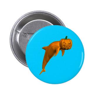 Halloween Dolphin 6 Cm Round Badge