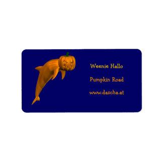 Halloween Dolphin Address Label