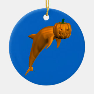 Halloween Dolphin Round Ceramic Decoration