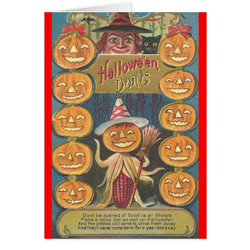 halloween don'ts card