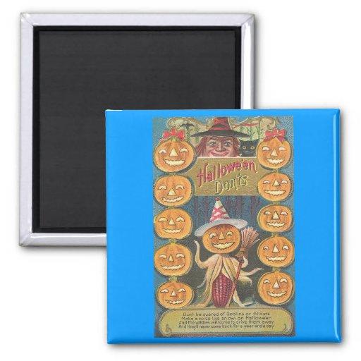 halloween don'ts fridge magnet