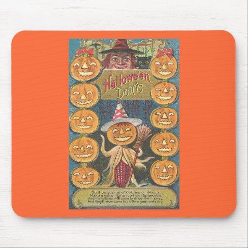 halloween don'ts mouse pad