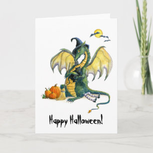 Halloween Dragon Card
