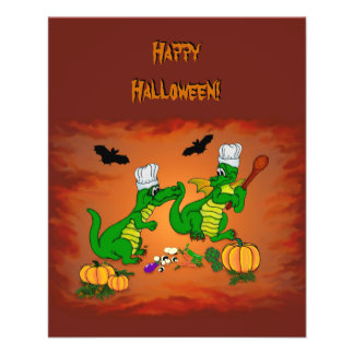 Halloween Dragon Cook, Today I will cook 11.5 Cm X 14 Cm Flyer