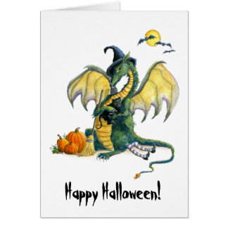 Halloween Dragon Greeting Card