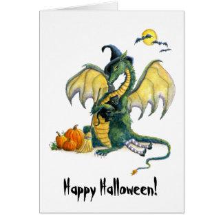 Halloween Dragon Greeting Card