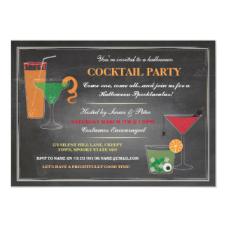 Halloween Drinks Party Spooky Invitation