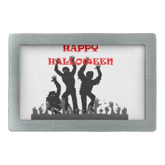 Halloween drooling zombie belt buckle