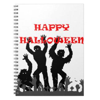 Halloween drooling zombie notebook