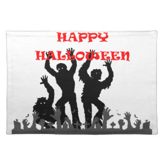 Halloween drooling zombie place mats
