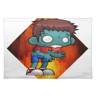 Halloween drooling zombie placemat