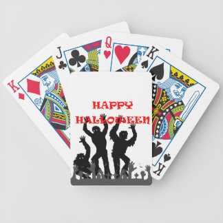 Halloween drooling zombie playing cards