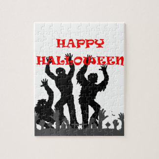 Halloween drooling zombie puzzle