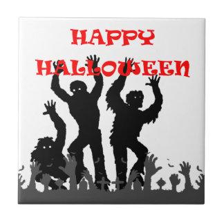 Halloween drooling zombie tile