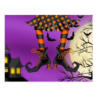 Halloween Drop In Postcard Invitation