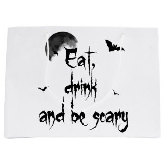 Halloween - Eat, drink and be scary Large Gift Bag