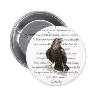 Halloween, Edgar Allen Poe, Raven, Nevermore Pin