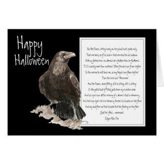 Halloween Edgar Allen Poe Raven Nevermore Greeting Card