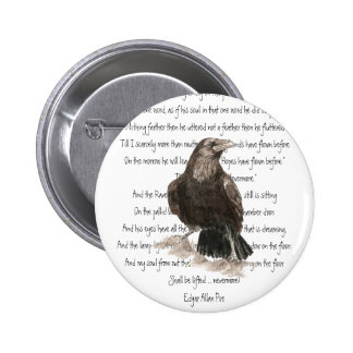 Halloween Edgar Allen Poe Raven Nevermore Pin
