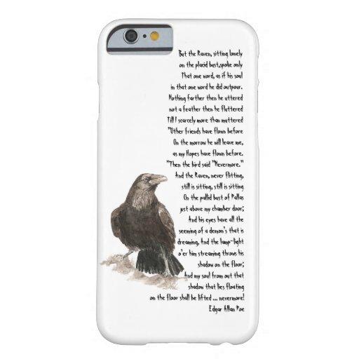Halloween Edgar Allen Poe Raven Poem iPhone 6 Case