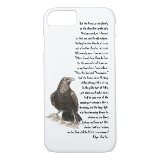Halloween Edgar Allen Poe Raven Poem iPhone 8/7 Case