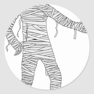 Halloween Egyptian Mummy Round Sticker