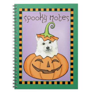 Halloween Eskie Notebook