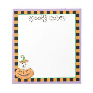 Halloween Eskie Notepad