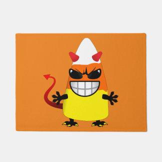 Halloween Evil Candy Corn Doormat