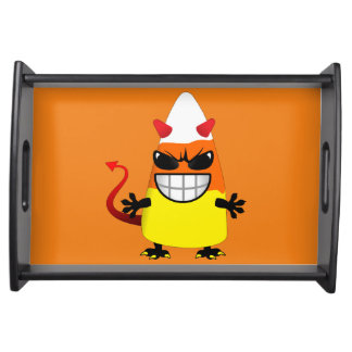 Halloween Evil Candy Corn Serving Trays