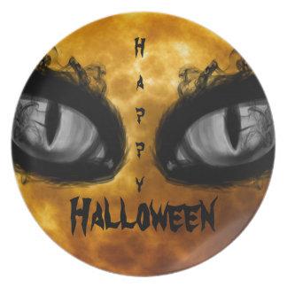 Halloween evil eyes dinner plate