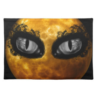 Halloween evil eyes placemat
