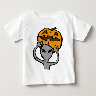 < Halloween extraterrestrial (both sides) Tee Shirts