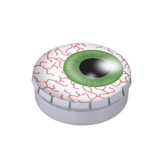 Halloween eye ball small snip snap tin candy tins