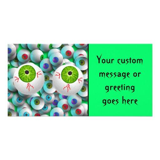 Halloween Eyeballs Photo Greeting Card