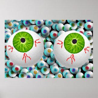 Halloween Eyeballs Posters